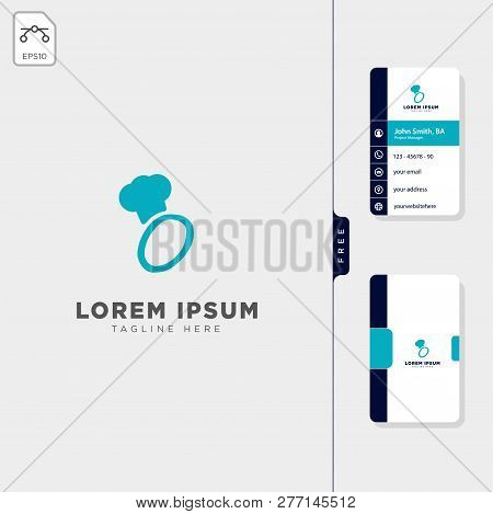 Minimal O Chef Initial Logo Template Vector Illustration Free Business Card Design