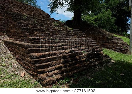 Fortress Historical Park In Nakhon Chum Kamphaeng Phet, Thailand (a Part Of The Unesco World Heritag