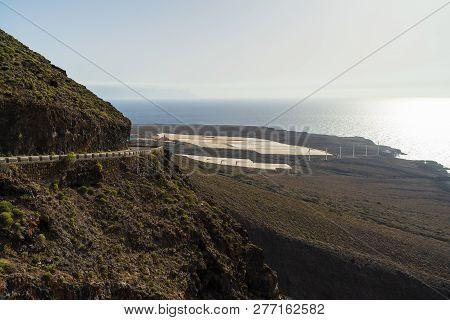 The Rocky Shore Of The Teno Massif (macizo De Teno) And The Atlantic Ocean. Tenerife. Canary Islands