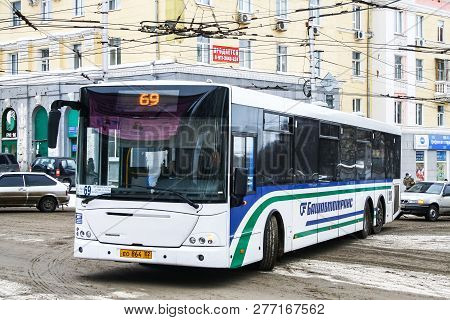 Ufa, Russia - February 23, 2010: Urban Bus Nefaz 52998 (vdl Transit) In The City Street.