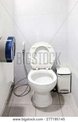 Toilet White Room, Toilet, Lavatory, Latrine, Loo