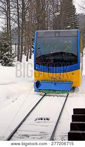 Zakopane, Poland - December 31, 2010: The Cable Car Rides From The Peak Of Gubalowka (1126 M N.p.m.)