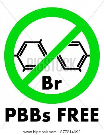 Pbbs Free Icon. Polybrominated Biphenyls Chemical Molecule And Letters Br (chemical Symbol For Bromi