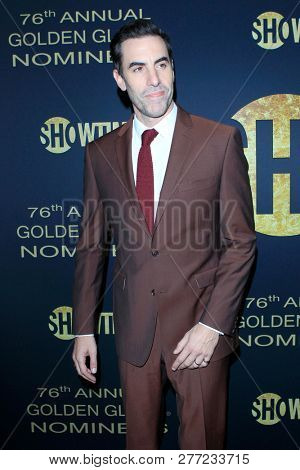 LOS ANGELES - JAN 5:  Sacha Baron Cohen at the Showtime Golden Globe Nominees Celebration at the Sunset Tower Hotel on January 5, 2019 in West Hollywood, CA