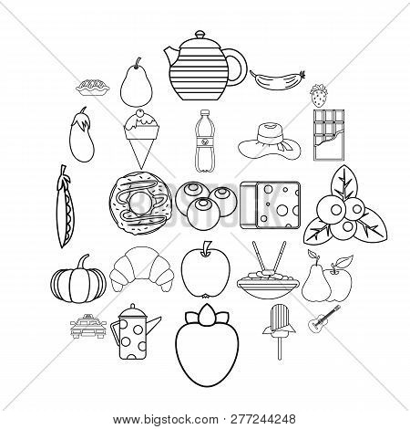 Luncheon Icons Set. Outline Set Of 25 Luncheon Vector Icons For Web Isolated On White Background