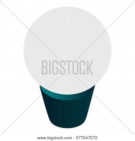 Economy Bulb Icon. Isometric Of Economy Bulb Vector Icon For Web Design Isolated On White Background