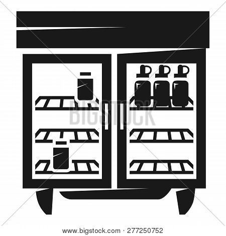 Commercial Freezer Icon. Simple Illustration Of Commercial Freezer Vector Icon For Web Design Isolat