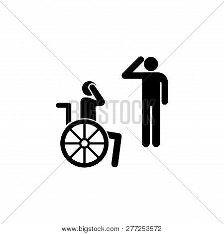 Veteran, Handicap, Wheelchair Icon. Can Be Used For Web, Logo, Mobile App, Ui, Ux