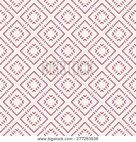 Vector Geometric Traditional Scandinavian Ornament. Fair Isle Seamless Pattern. Folk Ethnic Motif. S