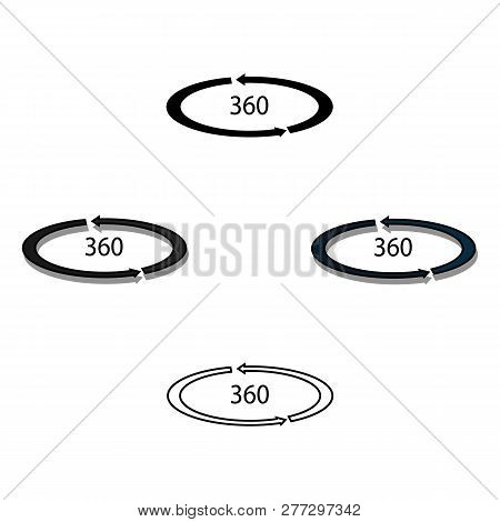 Rotation In The Virtual Reality Icon In Cartoon Style Isolated On White Background. Virtual Reality