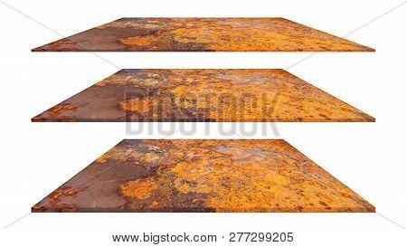 Rusty Metal Plate Texture Or Rusty Metal Background. Rusty Metal For Interior Exterior Decoration De