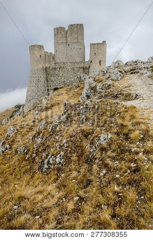 Rocca Calascio old Italian castle Location film of famous film The Name of the Rose poster