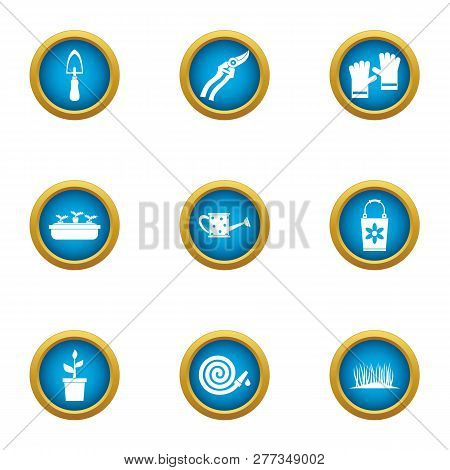 Frontage Icons Set. Flat Set Of 9 Frontage Icons For Web Isolated On White Background