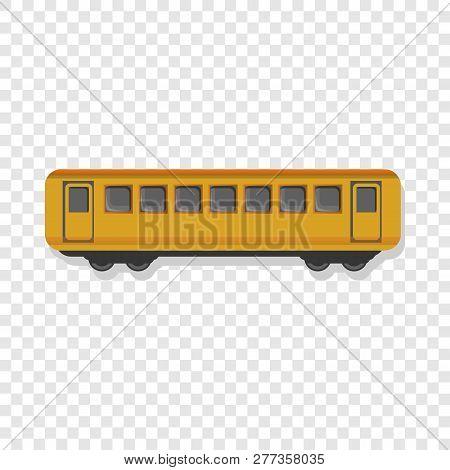 Yellow Passenger Wagon Icon. Cartoon Of Yellow Passenger Wagon Icon For Web Design