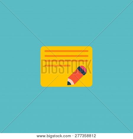 Edit Task Icon Flat Element. Vector Illustration Of Edit Task Icon Flat Isolated On Clean Background