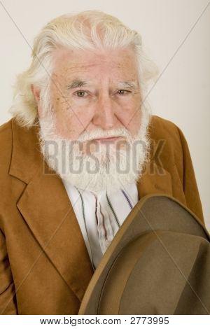 Sad Old Man With Hat