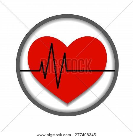 Vector Icon About Heart Health. Isolated. Eps 10