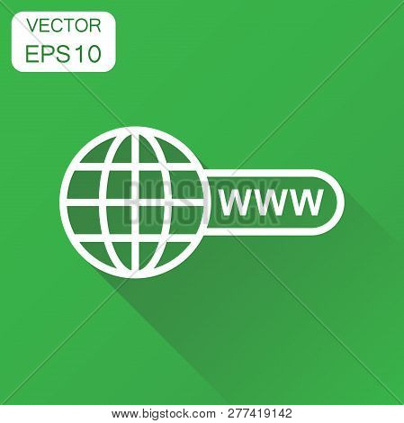 Go To Web Icon. Business Concept Network Internet Search Pictogr