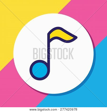 Vector Illustration Of Music Icon Colored Line. Beautiful Entertainment Element Also Can Be Used As