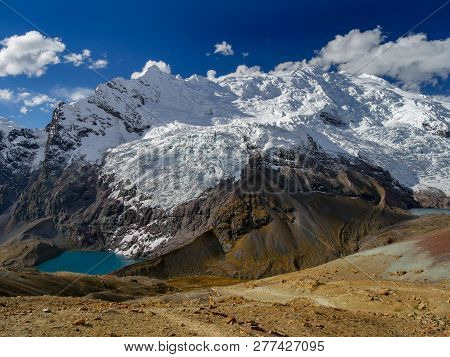 High Mountains On The Ausangate Trail In Peru