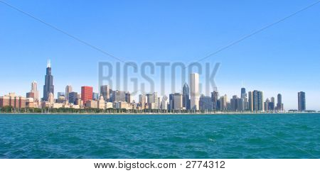 Chicago Illinois Skyline (Panoramic)