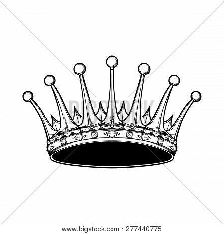 Detailed Earl Crown. Element For Design Logo, Coat Of Arms, Emblem And Tattoo. Vector Illustration I
