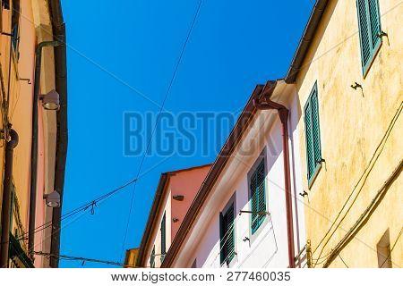 Rio Nell'elba In Elba Island Skyline In Summer, Italy