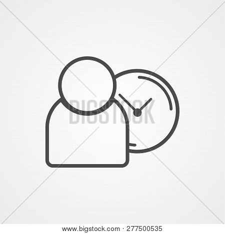 Punctuality Icon Vector, Filled Flat Sign, Solid Pictogram Isolated On White. Symbol, Logo Illustrat