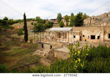 Italian Town Pompeii View On Ruins