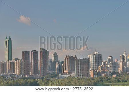 China's Shenzhen City From Hong Kong View