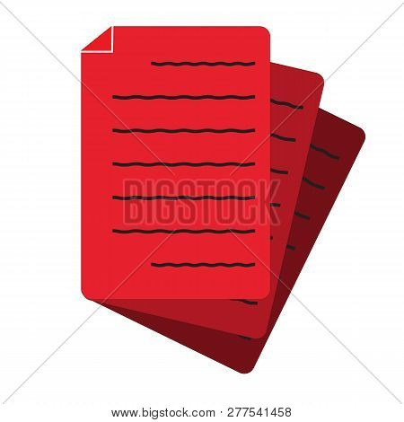 Document Icon On White Background. Flat Style. Document Icon For Your Web Site Design, Logo, App, Ui