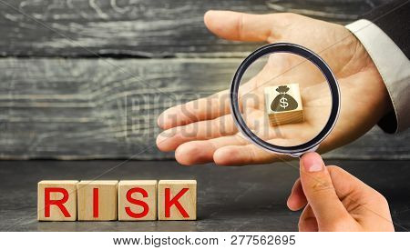 Dollars And The Inscription Risk In The Hands Of A Businessman. The Concept Of Financial Risk And In