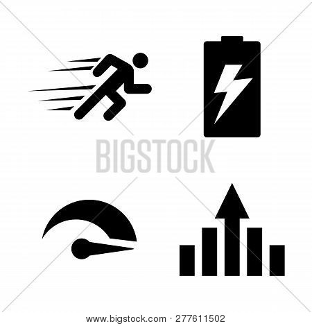 Performance, Improvement. Simple Related Vector Icons Set For Video, Mobile Apps, Web Sites, Print P