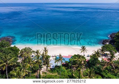 Bali Seascape With Huge Waves At Beautiful Hidden White Sand Beach. Bali Sea Beach Nature, Outdoor I
