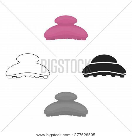 Comb Icon In Cartoon Style Isolated On White Background. Hairdressery Symbol Stock Vector Illustrati