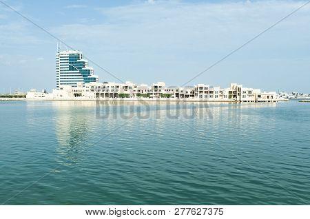 Manama, Bahrain, December 30, 2018: Panoramic View Of The City. Manama Of Bahrain - National Museum
