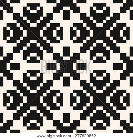 Vector Geometric Traditional Ornament. Fair Isle Seamless Pattern. Ethnic Folk Motif. Simple Ornamen