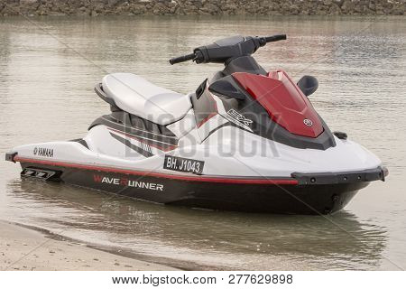 Manama, Bahrain, December 30, 2018  Jetski In Marina Beach In Bahrain