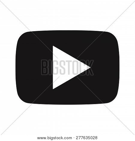 Video Play Button Icon Isolated On White Background. Video Play Button Icon In Trendy Design Style.