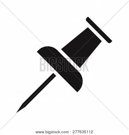 Push Pin Icon Isolated On White Background. Push Pin Icon In Trendy Design Style. Push Pin Vector Ic