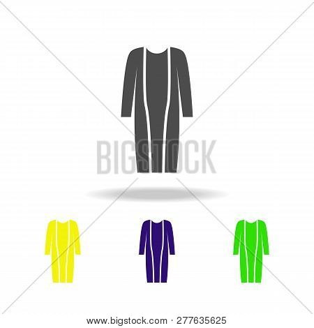 Cardigan, Fashion Multicolored Icons. Can Be Used For Web, Logo, Mobile App, Ui, Ux