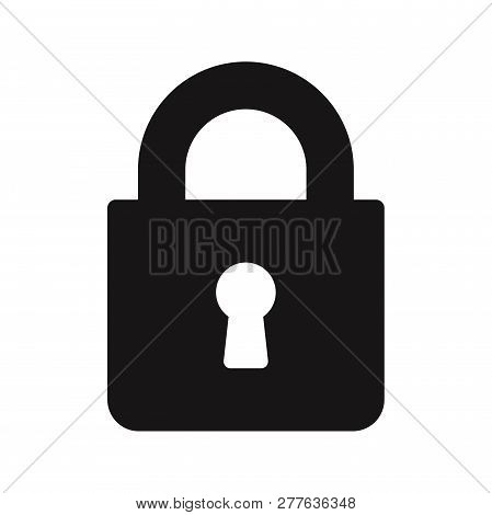 Lock Icon Isolated On White Background. Lock Icon In Trendy Design Style. Lock Vector Icon Modern An