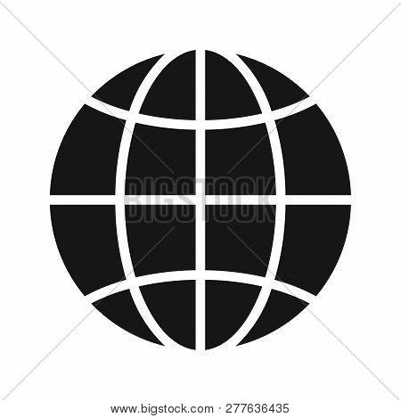 World Globe Icon Isolated On White Background. World Globe Icon In Trendy Design Style. World Globe
