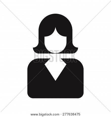 Businesswoman Icon Isolated On White Background. Businesswoman Icon In Trendy Design Style. Business