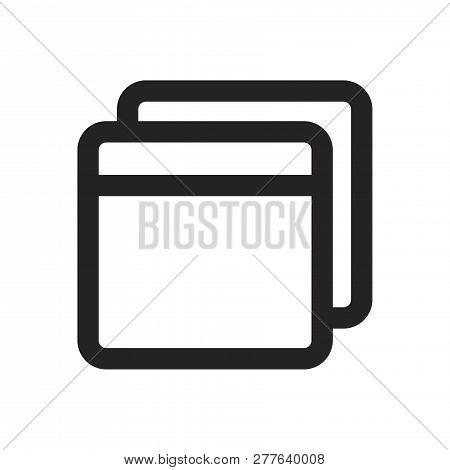 Folders Vector Icon On White Background. Folders Icon In Modern Design Style. Folders Vector Icon Po