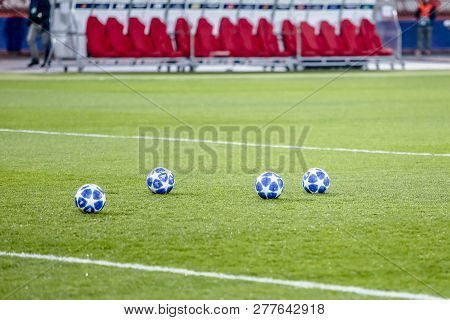 Belgrade, Serbia - December 11, 2018; Official Match Ball Of Uefa Champions League Season 2018/2019