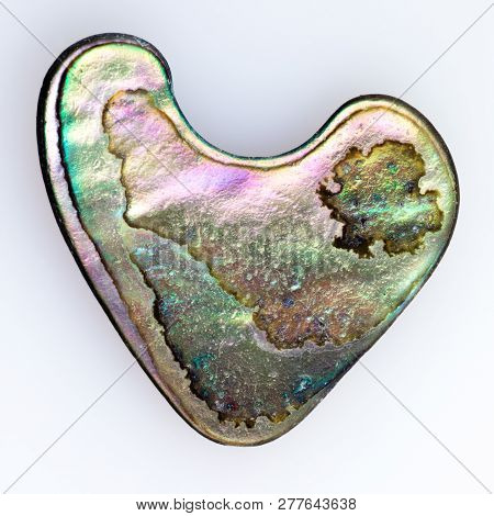 Nacre Mother-of-pearl Abalone Shaped Like A Heart