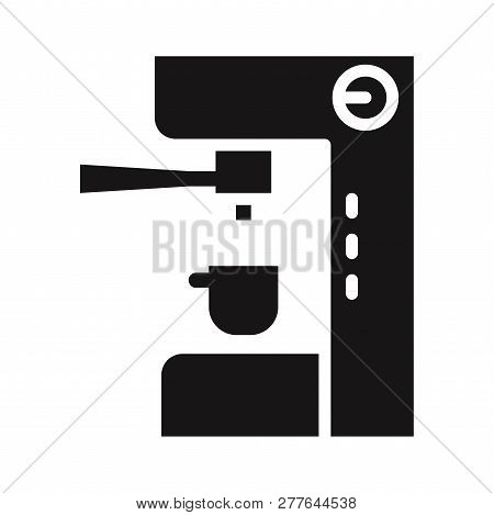 Coffee Maker Machine Icon Isolated On White Background. Coffee Maker Machine Icon In Trendy Design S