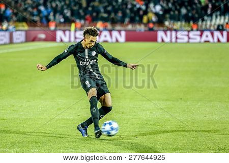 Belgrade, Serbia - December 11, 2018; Thilo Kehrer Playing On A Uefa Champions League Match Red Star