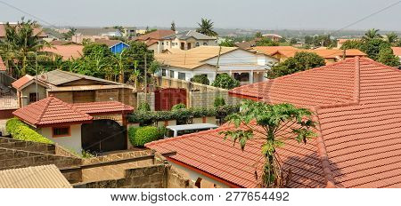 Modern Residential Buildings In Africa. Modern View. Suburb Lifestyle In Developing Countries. Beaut